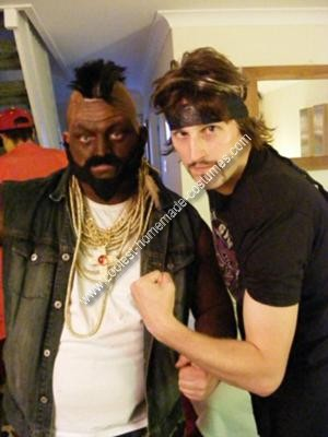 Homemade Mr T costume and Dodgeball Costume