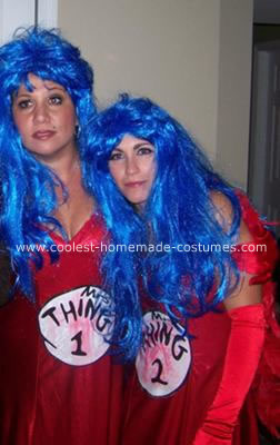 Homemade Mrs. Thing 1 and Mrs. Thing 2 Costumes