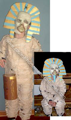 Homemade Mummified King Tut Costume