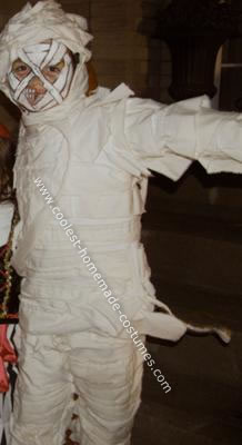 Homemade Mummy Boy Halloween Costume