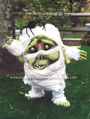 Homemade Mummy Halloween Costume