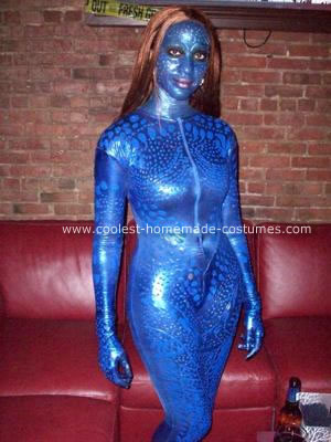 Homemade Mystique Halloween Costume