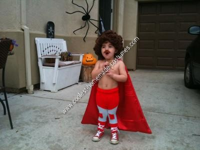 Homemade Nacho Libre Kids Halloween Costume