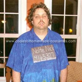Homemade Nick Nolte Mug Shot Costume