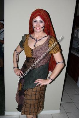 Homemade Nightmare Before Christmas Sally Adult Halloween Costume