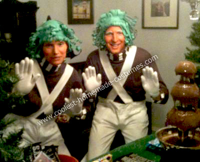Homemade No Sew Oompa Loompa Costumes