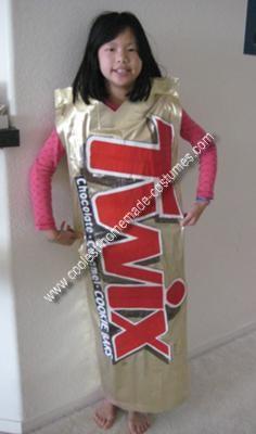 Homemade No-Sew Twix Costume