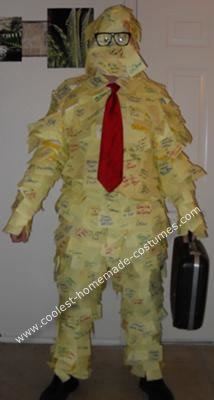 Homemade Office Space Post It Guy Costume