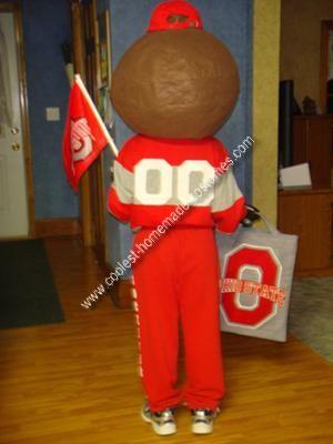 Homemade Ohio State Buckeye Brutus Mascot Costume