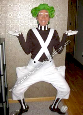 Homemade Oompa Loompa Costume