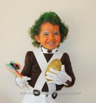 Homemade Oompa Loompa Halloween Costume
