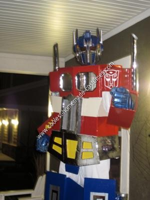 Homemade Optimus Prime Halloween Costume Idea