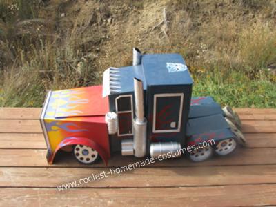 Homemade Optimus Prime Kids Costume