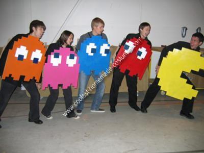 Homemade Pac Man Group Costume