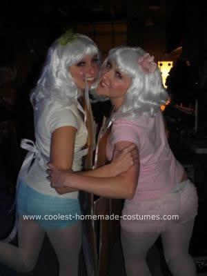 Homemade Paper Dolls Couple Costume