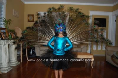 Homemade Peacock Bird Costume
