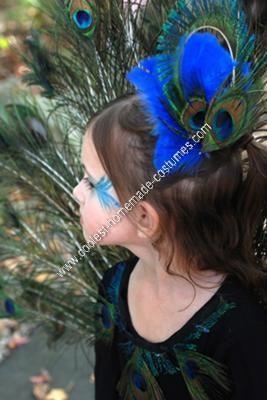 Homemade Peacock Girl's Halloween Costume Idea