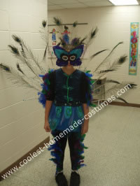 Homemade Peacock Halloween Costume