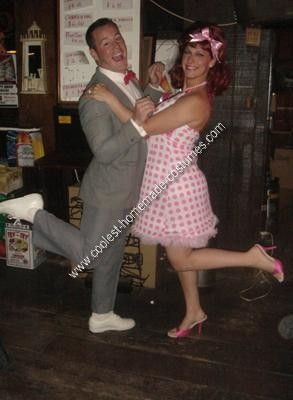 Homemade Pee Wee Herman and Miss Yvonne Couple Halloween Costume