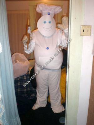 Homemade Pillsbury Doughboy Halloween Costume