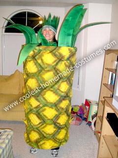 Homemade Pineapple Costume
