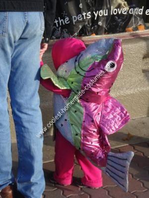 Homemade Pink Salmon Costume