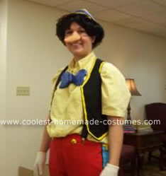 Homemade Pinocchio Halloween Costume