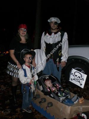Homemade Pirate Family Halloween Costume