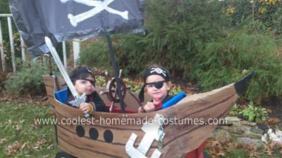 Homemade Pirate Ship Costume