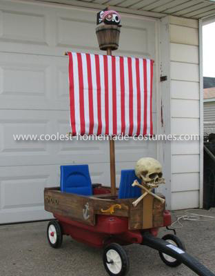 Homemade Pirate Ship Wagon and Pirate Costume