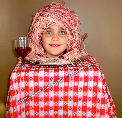 Homemade Plate of Spaghetti Halloween Costume
