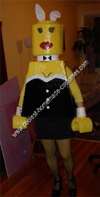 Homemade Playboy Bunny Lego Minifig Halloween Costume