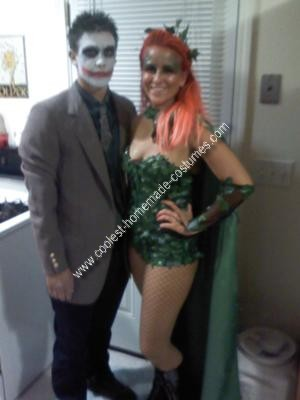 Homemade Poison Ivy and Joker Couple Costume