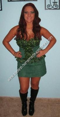 Homemade Poison Ivy Halloween Costume Idea