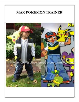 Homemade Pokemon Trainer Ash Kethum Costume