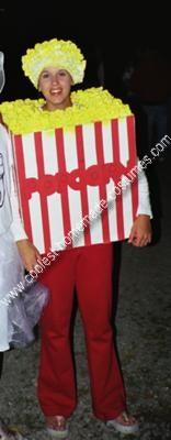 Homemade Popcorn Costume Idea