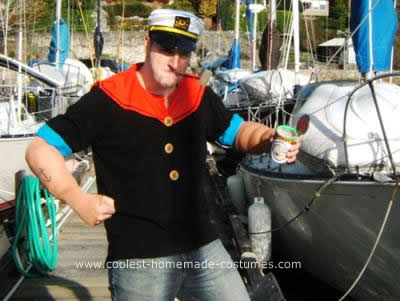 Homemade Popeye Adult Halloween Costume