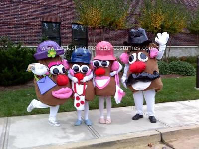 Homemade Potato Head Costumes