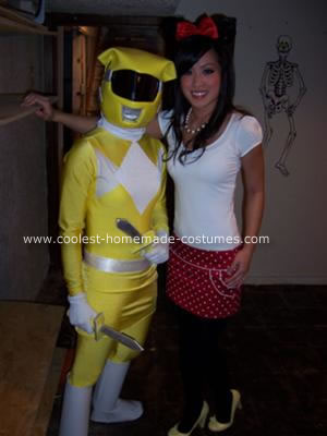 Homemade Power Rangers Halloween Costume
