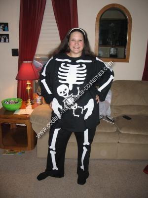 Homemade Pregnant Skeleton Costume