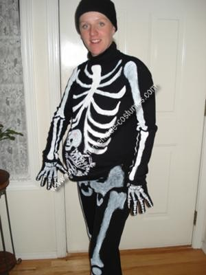 Homemade Pregnant Skeleton Costume