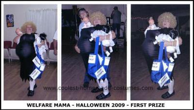 Homemade Pregnant Welfare Mama Costume