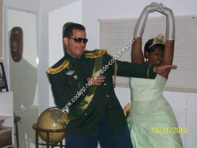 Homemade Princess and the Frog Couple Halloween Costume Idea