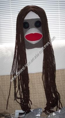 Homemade Princess Leia Sock Monkey Halloween Costume