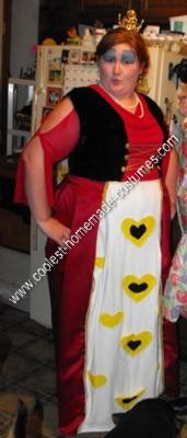 Homemade Queen of Hearts Costume