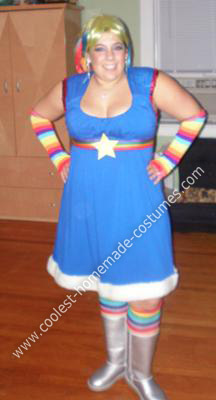 Homemade Rainbow Brite Adult Costume
