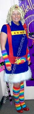 Homemade Rainbow Brite Halloween Costume