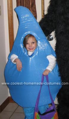Homemade Raindrop Costume