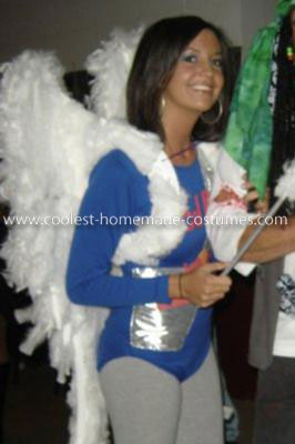 Homemade Red Bull Angel Costume