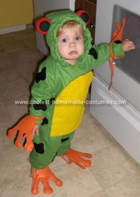 Homemade Red Eyed Tree Frog Costume